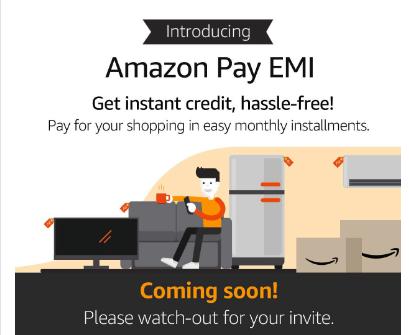 Amazon Pay EMI- card-less credit