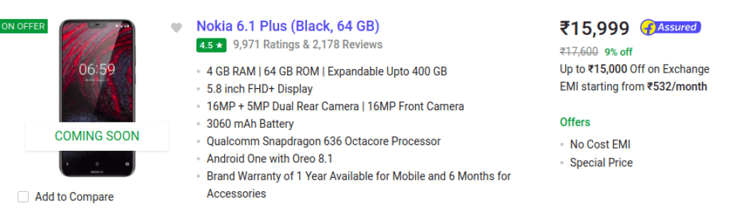 Nokia 6.1 Plus Exchange Offer