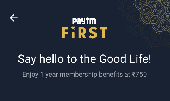 PayTM First Membership Guide